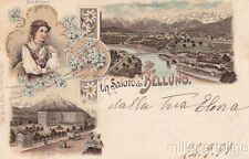 * BELLUNO - Panorami Illustrati e Costume 1899
