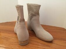 "MICHAEL KORS 'SUNNY"" BOOTIE CEMENT WOMEN'S SUEDE FLAT BOOTS SHOES SZ 9"
