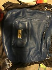 Authentic Coach Kristin Large Leather Hobo Crossbody Handbag in Blue