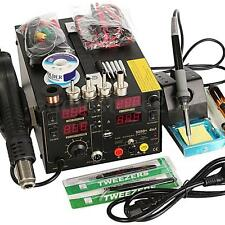 4 In1 909D+ Rework Soldering Station Hot Heat Air Gun DC USB Power Supply AC