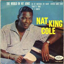 "NAT KING COLE ""THE WORLD IN MY ARMS"" POP VOCAL JAZZ 60'S EP CAPITOL 1-20156"