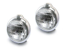 Pair Of Chrome Metal Headlights Headlamps Suitable For Citroen 2CV Kit Cars