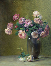 Porter Ethan Charles Pink Roses On A Table Print 11 x 14  #5072