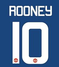 Rooney 10 Manchester United 2016-2017 Europa Away Football Nameset for shirt
