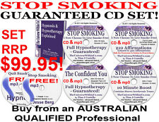 4 CD & 5 mp3 QUIT SMOKING SYSTEM HYPNOTHERAPY HYPNOSIS + FREE Stop Smoking mp3's