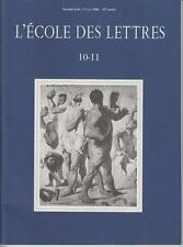 COLLECTIF / L'ECOLE DES LETTRES, second cycle - 10-11 - 15 MAI 1996