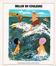 "PUBLICITE ADVERTISING 084  1975  BELLUS EN COULEURS "" ma planche a repasser"""