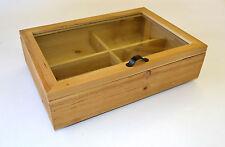 En bois boîte de rangement pour boutons de manchette montres mouchoirs bits & bobs