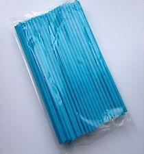 100 pcs Blue Pop Paper Sticks Chocolate Cake Lollipop Sweet Candy Making Stick