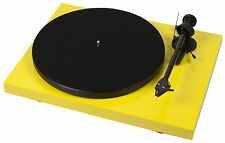 Pro-Ject Debut Carbon Premium Turntable (Yellow) + Ortofon 2M Red