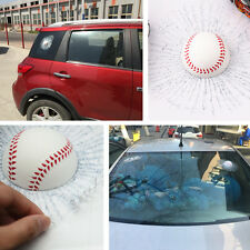 Car Simulatio Baseball Window Body Adhesive Ball Hit Sticker Decal Glass Crack
