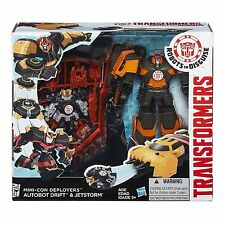 TRANSFORMERS ROBOTS IN DISGUISE MINI-CON DEPLOYERS AUTOBOT DRIFT AND JETSTORM