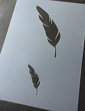 Feather Animal A4 Mylar Reusable Stencil Airbrush Painting Art Craft
