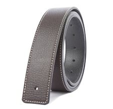 1PCS Fashion Genuine Leather Belt Slide Strap Without Buckle at various colors