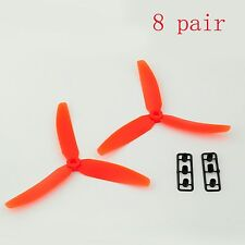 8 pairs 5030 Nylon 3 Blade Propeller CW/CCW for 250 mini Quadcopter RED se
