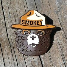 Vintage Original SMOKEY THE BEAR PINBACK PIN Badge Button 1990s Ranger Hat NOS