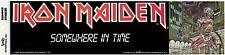 IRON MAIDEN Somewhere in Time Bumper STICKER *RARE*