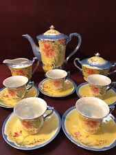 Stunning Vintage 13 piece Luster ware Tea Set Made in Japan
