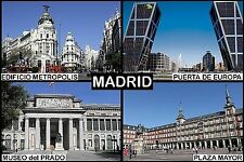 SOUVENIR FRIDGE MAGNET of MADRID SPAIN