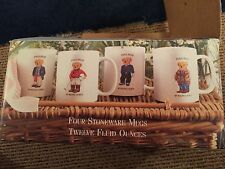 Ralph Lauren Polo Bear Set Of 4 Coffee Mugs Cups 1997 Original Box Vintage