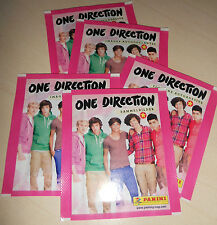 ONE DIRECTION 1D 5 bustine Stickers Tuten Pochette Panini 2013 unopened packs