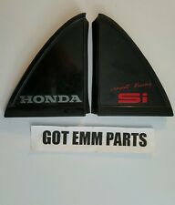88-91 Honda CRX SI rear right and left side trim corner OEM triangle decal