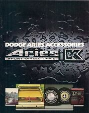 Dodge Aries K Accessories 1981 USA Market Sales Brochure