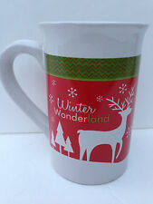 Royal Norfolk Christmas Reindeer Ceramic Coffee Tea Mug 10 oz Holiday Gift