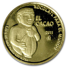 2011 Mexico Gold El Cacao Proof (no box) - SKU #72001