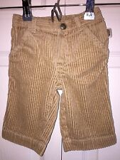 USED GYMBOREE BOYS 3 6 MONTHS KHAKI TAN CORDUROY PANTS SO CUTE