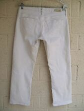 WOMEN'S AG ADRIANO GOLDSCHMIED JEANS 28 R THE TOMBOY CROP RELAXED STRAIGHT CROP