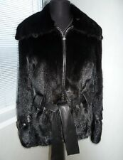 Lovely fur coat mink jacket, real soft leather size 8 euro 36