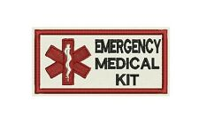 Emergency Medical kit identification Patch Custom Embroidered tag, badge