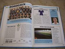 FOOTBALL COUPURE LIVRE PHOTO MRBT08 20x10 D1 GIRONDINS BORDEAUX 1988-89