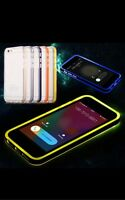 LED Flash Light UP Remind Incoming Call Cover Case Skin For iPhone 4/4S 5/5S 6