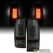 Smoke 2008-2016 Ford F250 F350 SuperDuty LED Tail Lights Brake Lamps Left+Right