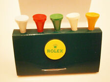 Authentic Rolex Set of 5 Wooden Golf Tees & Marker Holder Set