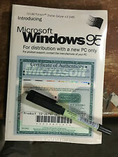 Sealed WINDOWS 95 Operating System Book,CD with USB support, License Key