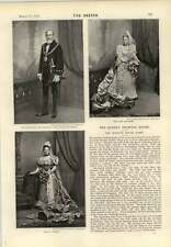 1893 Stuart knill Lord Mayor di Londra MISS M Wight dottor Jaochim