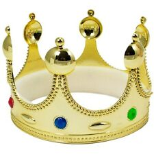 CHILD RENAISSANCE MEDIEVAL PRINCE KING KING'S COSTUME CROWN HAT GOLD KIDS BOYS