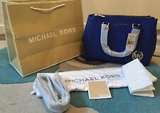 BNWT Michael Kors Medium Electric Blue Saffiano Leather Sutton Bag Satchel
