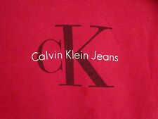 CALVIN KLEIN vtg classic CK logo Manhattan T shirt NYC fashion small beat-up tee
