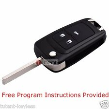 Replacement 3 Button Remote Key Fob ID46 315mhz For 2010-2015 Chevrolet Cruze