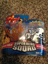 MARVEL SUPER HERO SQUAD SILVER SURFER HUMAN TORCH Brand New Hasbro Lot