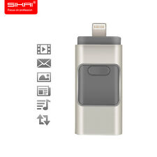 Silver 32GB USB i-Flash Drive U Disk Memory Stick For iPhone 5S 5c 6 6s 6s plus