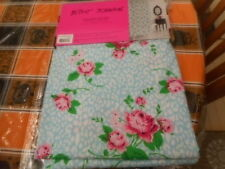 BETSEY JOHNSON ADORABLE FLORAL LEOPARD SHOWER CURTAIN BLUE PINK WHITE GREEN NEW