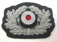 German Wreath & Metal cockade Army Officers Aluminium Heer Visor Cap Hat WW2 WK2
