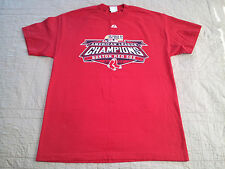 Boston Red Sox T Shirt sz Large MLB EUC by Majestic 2007 AL Champions Roster