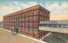 Chicago Illinois birds eye view Swift & Co General Office antique pc Z28831