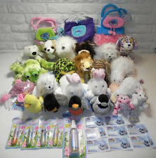 WEBKINZ Plush Pet Stuffed Animals Carriers Lip Gloss Spray Van Codes 38 Pc NWT